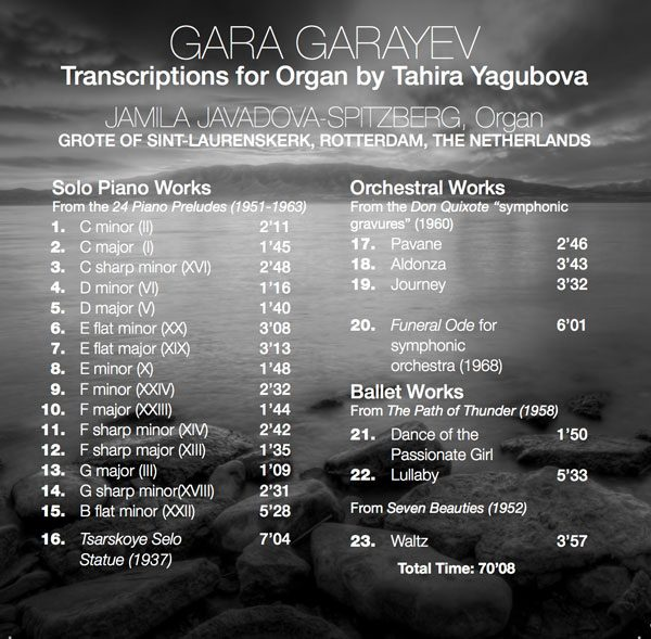 AAMF Gara Garayev CD Back Cover
